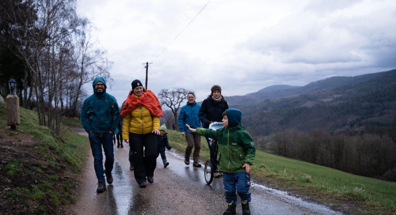 Allmende Spaziergänge gehen auch bei schlechtem Wetter